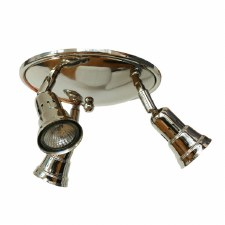 Cherry 3 Spotlights on a Round Plate Polished Nickel