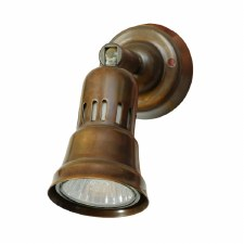 Cherry Single Spot Light Antique Brass