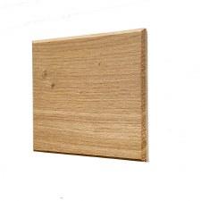 Oak Plinth for House Numbers Chevron Edge 2 Digit