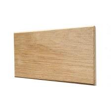 Oak Plinth for House Numbers Chevron Edge 3 Digit