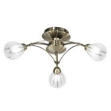 Franklite Chloris Ceiling Light 3 Light Bronze