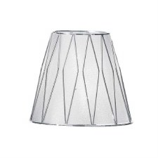 Franklite Candle Clip Lampshades Translucent Silver Fabric with a Chrome Finish Cage