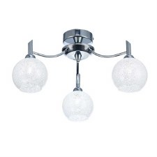 Chrysalis Chandelier 3 Light Chrome