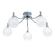 Chrysalis Chandelier 5 Light Chrome