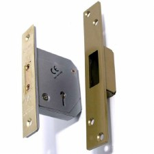 Chubb 5 Lever Deadlock Polished Brass