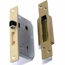 Chubb 5 Lever Mortice Lock Polished Brass