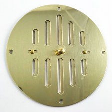 "Hit & Miss Circular Air Vent 6"" Polished Brass Unlacquered"