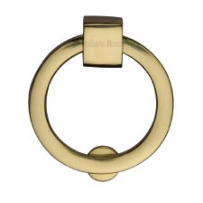 Heritage Circular Cabinet Drop Handle C6321 Polished Brass