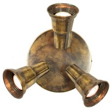 Circular Plate with 3 Spot Lights Light Antique Brass