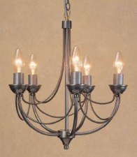 Cirrus 5 Light Chandelier Natural