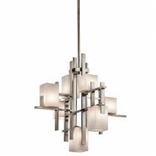 Kichler City Lights 7 Light Chandelier Pendant Classic Pewter