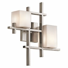 Kichler City Lights Double Wall Light Classic Pewter