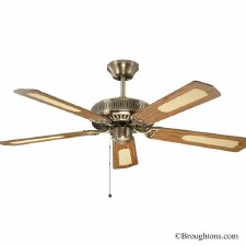 "Fantasia Classic 52"" Ceiling Fan Antique Brass"