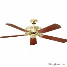 "Fantasia Classic 52"" Ceiling Fan Polished Brass"