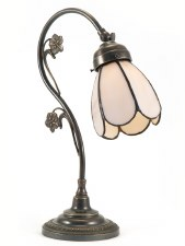 Swan Art Nouveau Flower Desk or Table Lamp