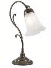 Classic Swan Art Nouveau Scroll Desk or Table Lamp