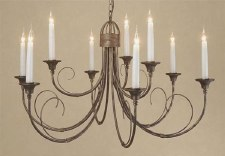 Classica 9 Arm Chandelier Black Gold