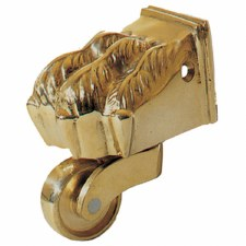 Claw Foot Castors Polished Brass Unlacquered