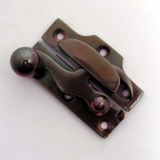 Aston Narrow Claw Sash Fastener Polished Solid Bronze Antiqued