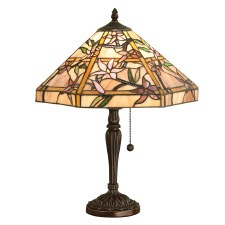 Interiors 1900 Clematis Tiffany Table Lamp Resin Base