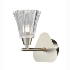 Clementine Single Wall Light Satin Nickel