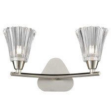 Clementine Double Wall Light Satin Nickel