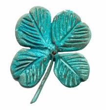 Four Leaf Clover Plaque Solid UK Bronze