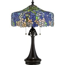 Quoizel Cobalt Tiffany Table Lamp