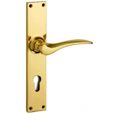 Croft Codsall 2103E Multipoint Door Lock Handles Polished Brass Unlacq