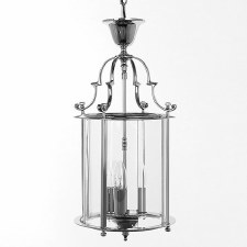 Colchester 3 Light Round Lantern Polished Chrome