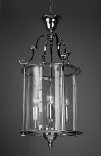 Colchester 4 Light Round Lantern Polished Chrome