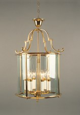 Colchester 6 Light Round Lantern Polished Brass Lacquered