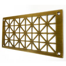 "Collateral Decorative Vent 6"" x 3"" Antique Brass Unlacquered"