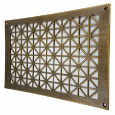 "Collateral Decorative Vent 9"" x 6"" Antique Brass Unlacquered"
