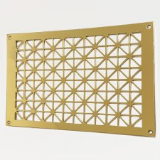 "Collateral Decorative Vent 9"" x 6"" Polished Brass Unlacquered"