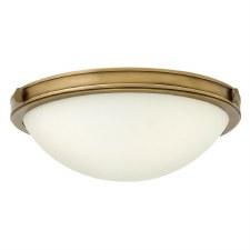 Hinkley Collier Flush Ceiling Light Small Heritage Brass
