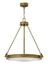 Hinkley Collier Pendant Light Heritage Brass