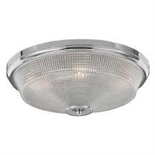 Concept Flush Ceiling Light Chrome Medium