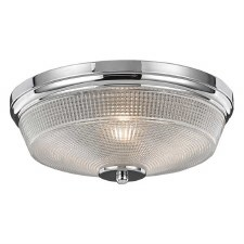 Concept Flush Ceiling Light Chrome Small