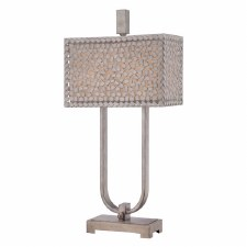 Quoizel Confetti Table Lamp Old Silver