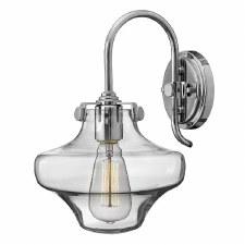 Hinkley Congress Clear Glass Wall Light Chrome