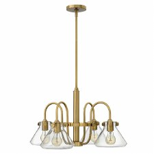 Hinkley Congress 4 Light Glass Chandelier Brushed Caramel