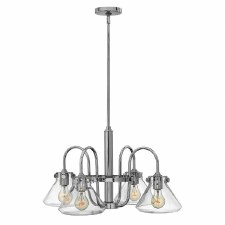 Hinkley Congress 4 Light Glass Chandelier Chrome