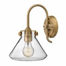 Hinkley Congress Glass Wall Light Brushed Caramel
