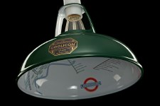 Coolicon Original 1933 Design Light Shade 23cm Green with Map Inside