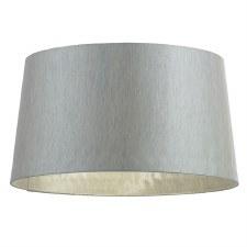 Interiors 1900 Cordelia Faux Silk Shade Silver Grey