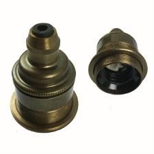 Cordgrip Lampholder ES Old English Brass