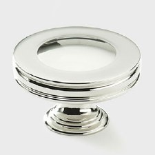 Armac Corona Cabinet or Cupboard Knob 32mm Polished Nickel