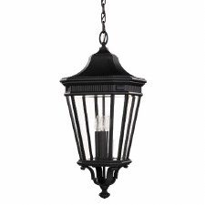 Feiss Cotswold Lane Large Chain Lantern Light Grecian Bronze