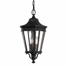 Feiss Cotswold Lane Medium Chain Lantern Light Black